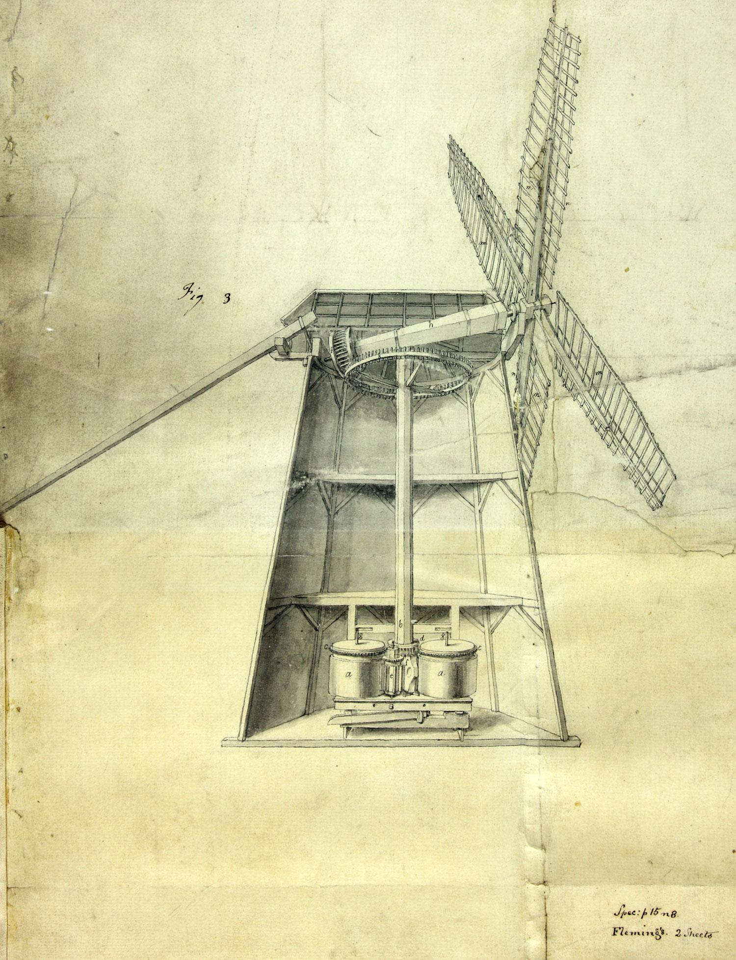 Sugar cane mill, John Fleming, 1773-1776 (C 73/15 m.21 (2))