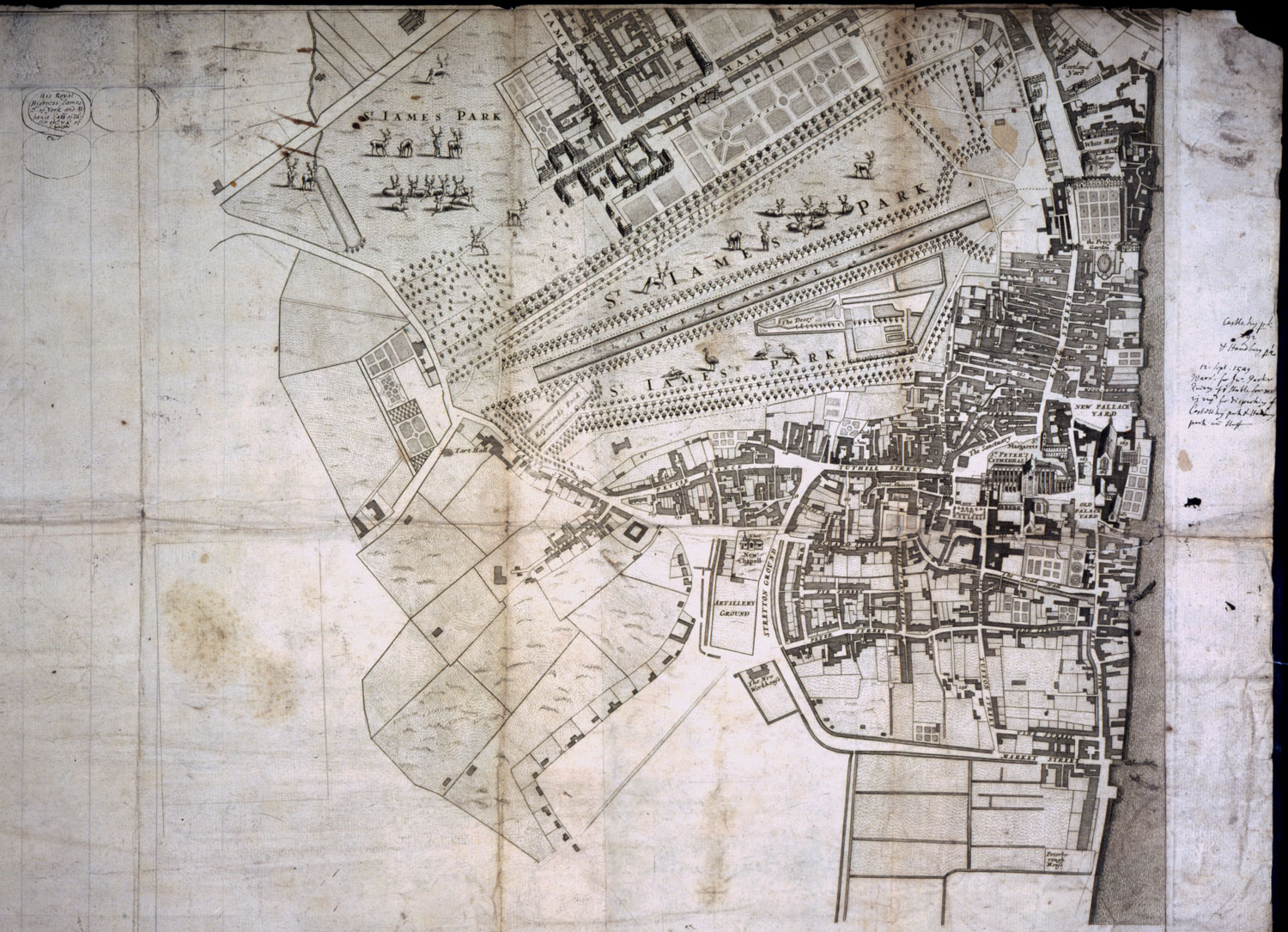 Map of Jame's Palace (CRES 2/1648)