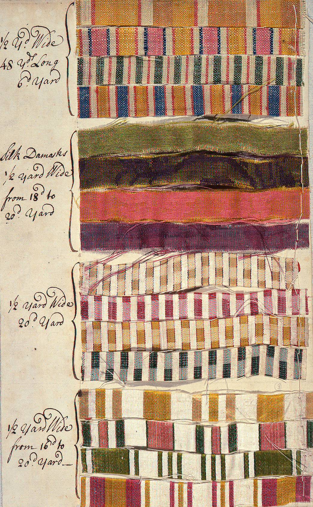 Silk samples, 1719. (MFQ 1/134 (2))