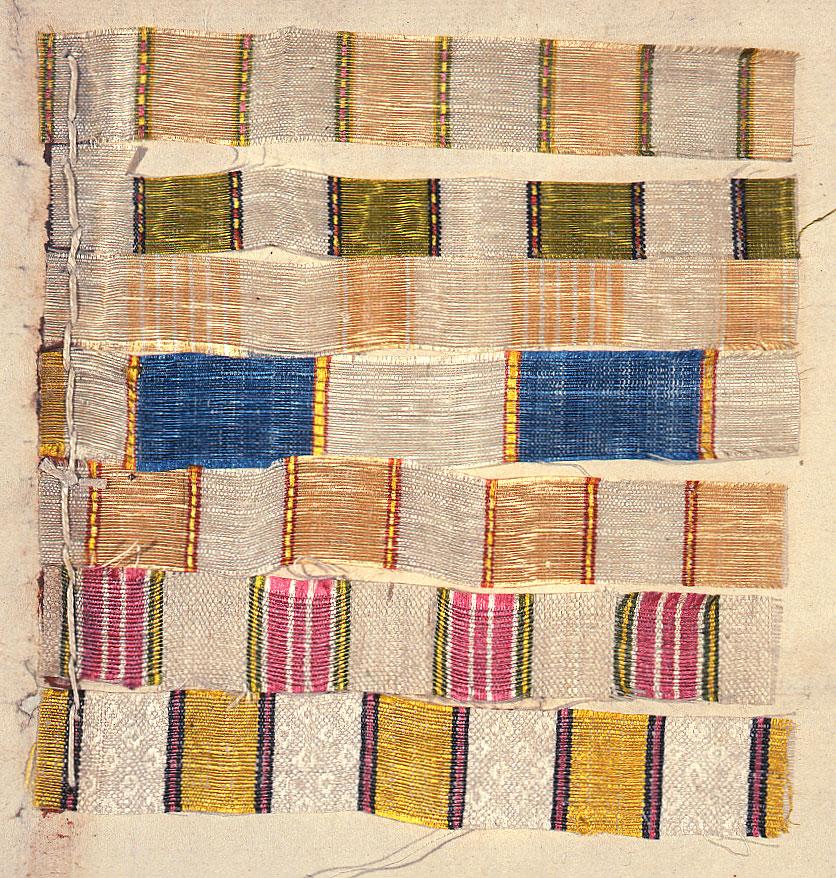 Regency striped silk damask cloth samples (MFQ (1/134 (8))