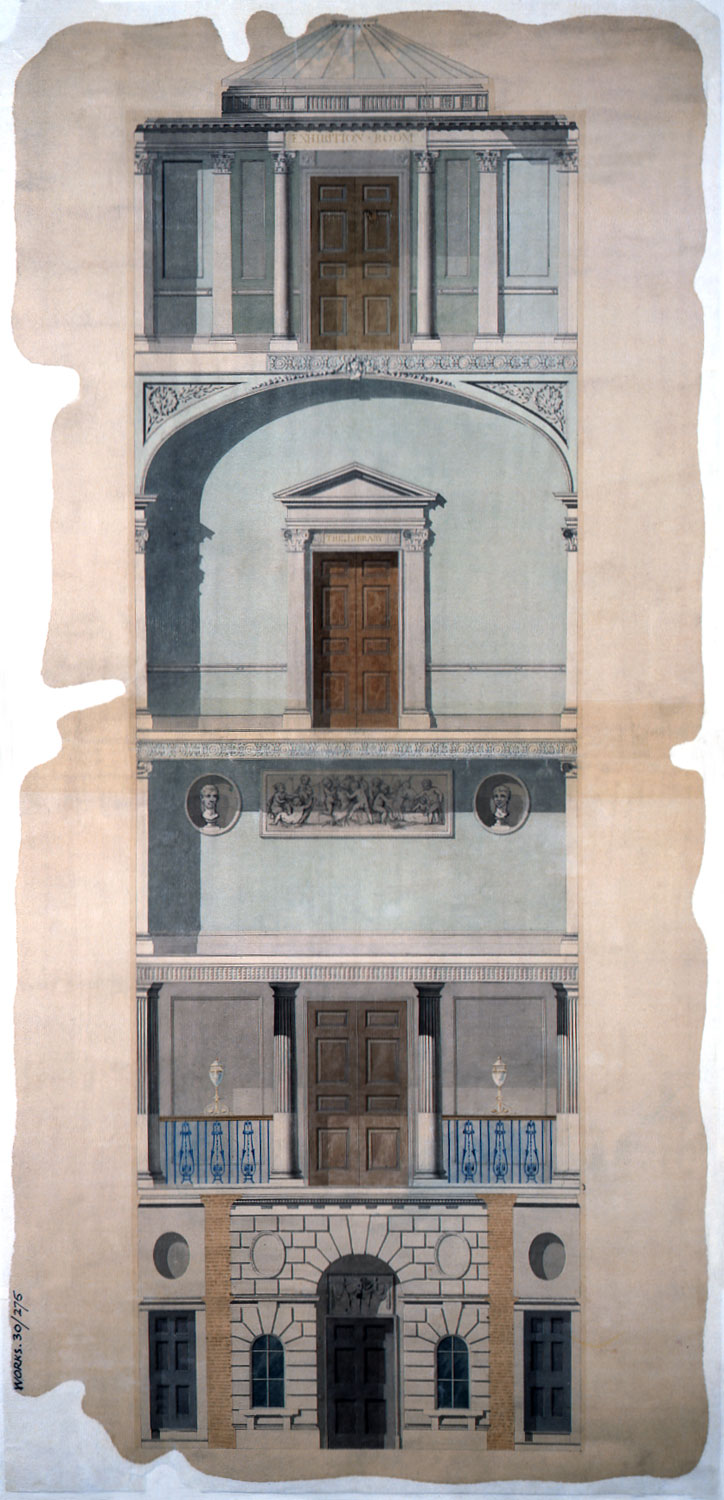 Watercolor of the Royal Academy c.1790 (WORK 30/275)