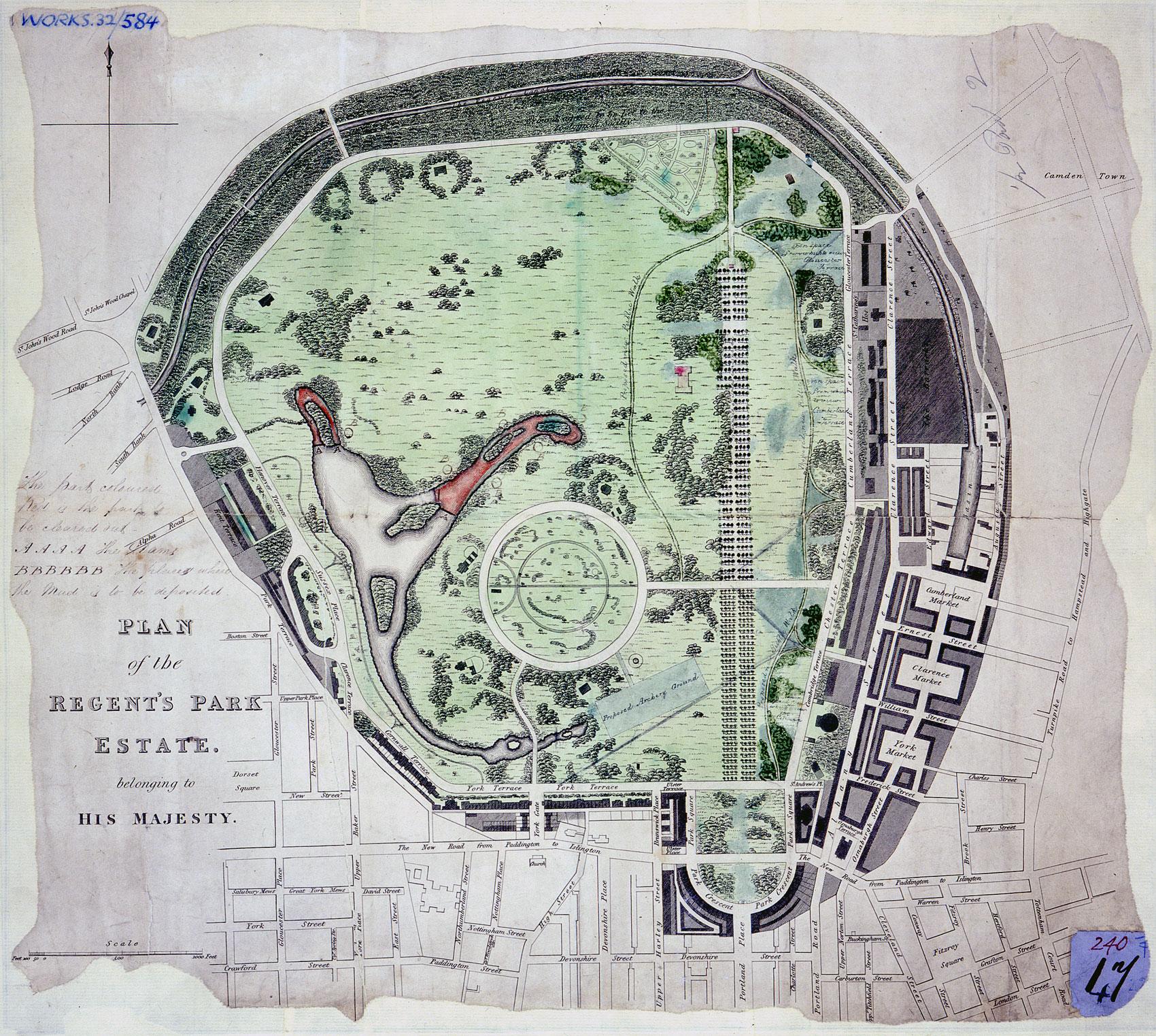 Plan of Regent's Park (WORK 32/584)