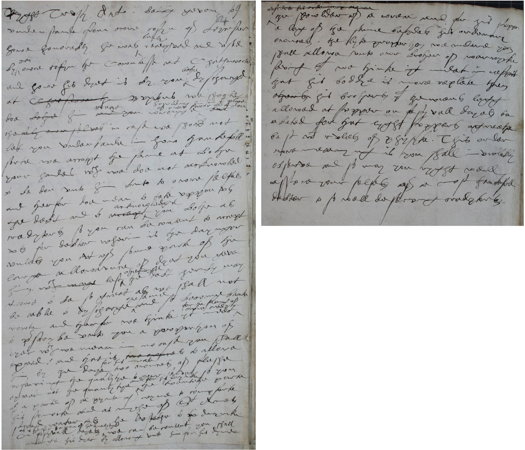 Elizabeth I to George and Elizabeth 'Bess' Talbot, Earl and Countess of Shrewsbury, 4 June 1577 (SP 53/10 f.84)