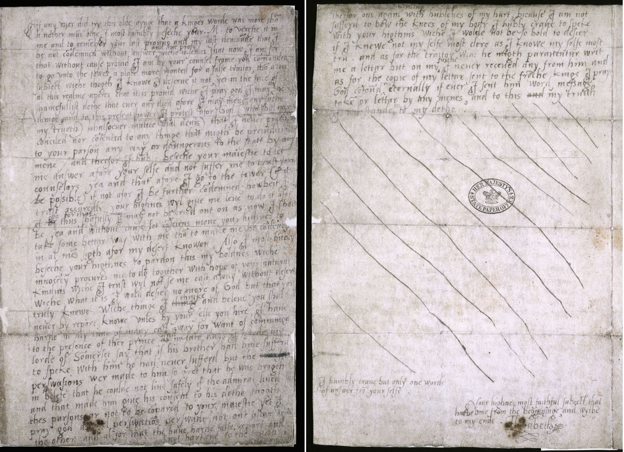 The 'Tide Letter', Noon, 17 March 1554 (SP 11/4/2 f.3- 3v)