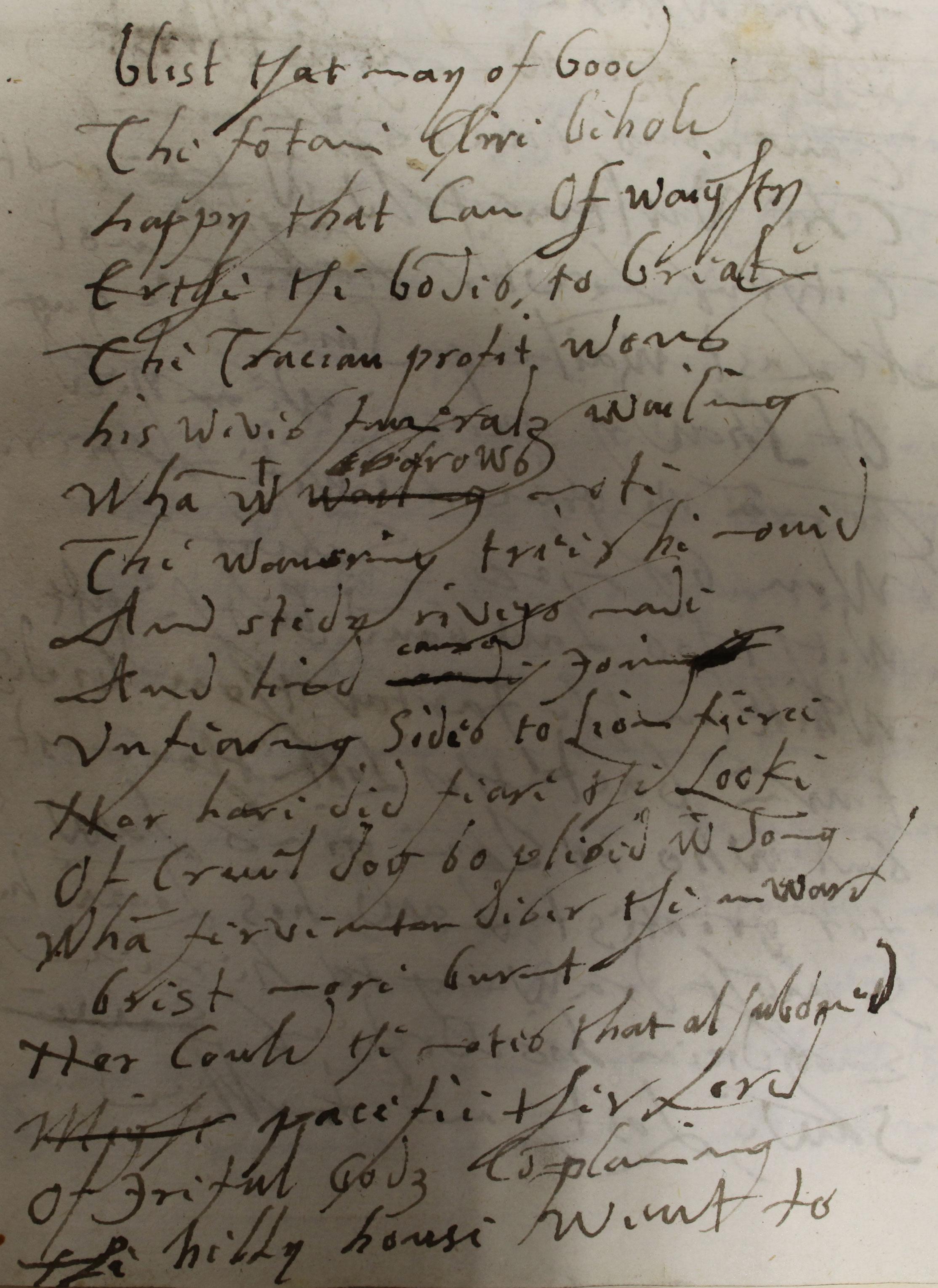 Elizabeth's translation of Boethius's De Consolatione Philosophie (The Consolation of Philosophy), October and November 1593 (SP 12/289 f.48)