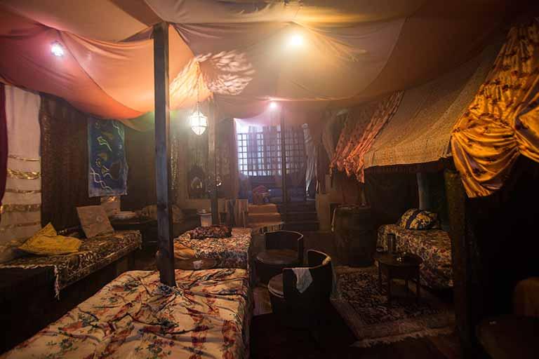 The recreated Caravan club at Freud's Café-Bar