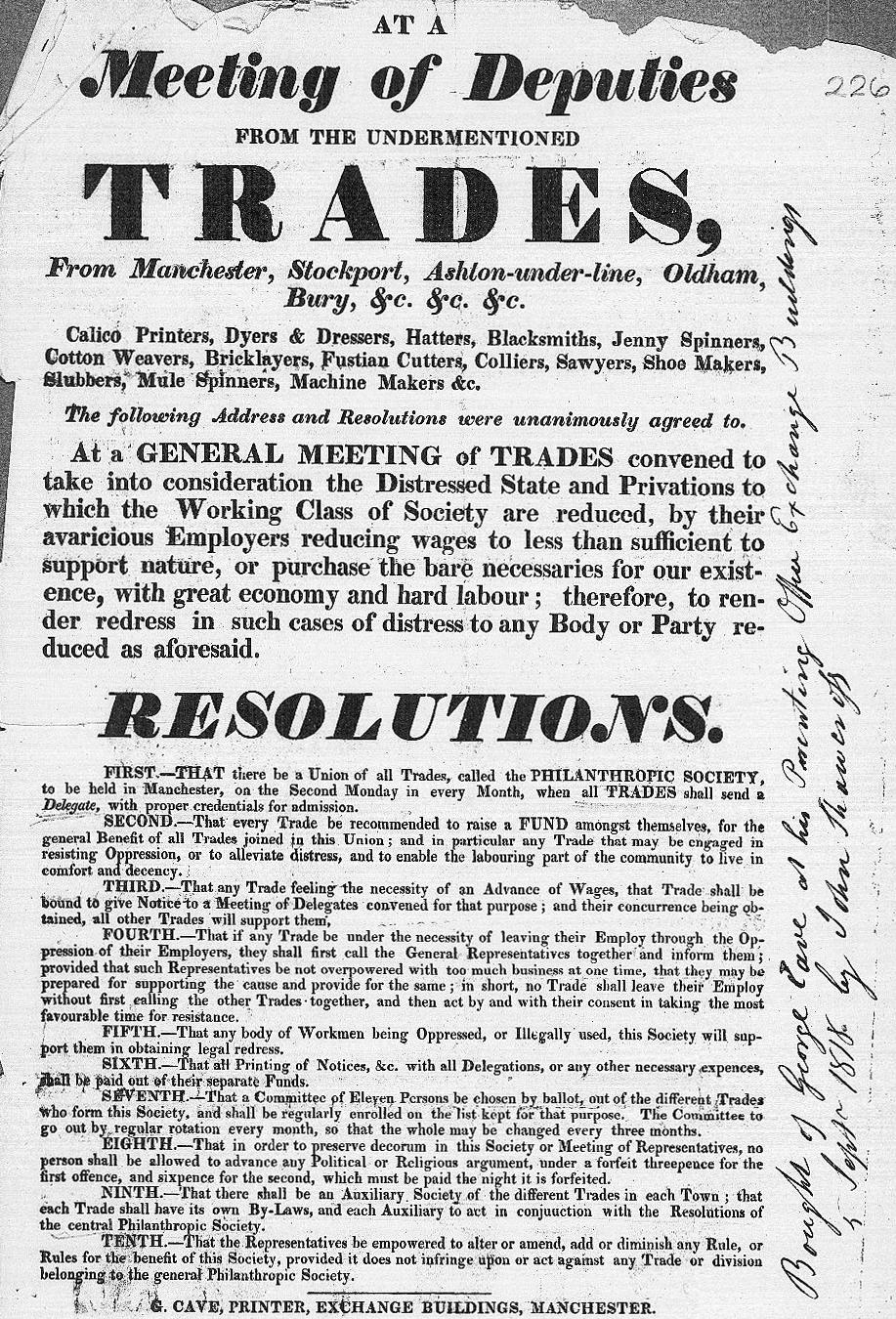Philanthropic Society 1818 (HO42.180. 226)