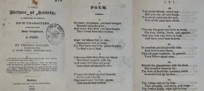 Image of Thomas Hazard poem
