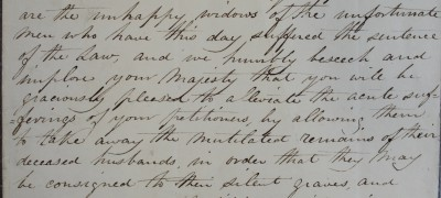 Image of Cato Street widows' petition