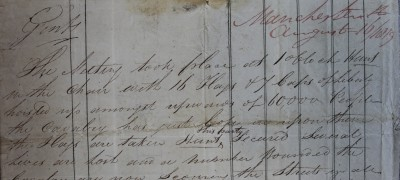 Image of First account of Peterloo