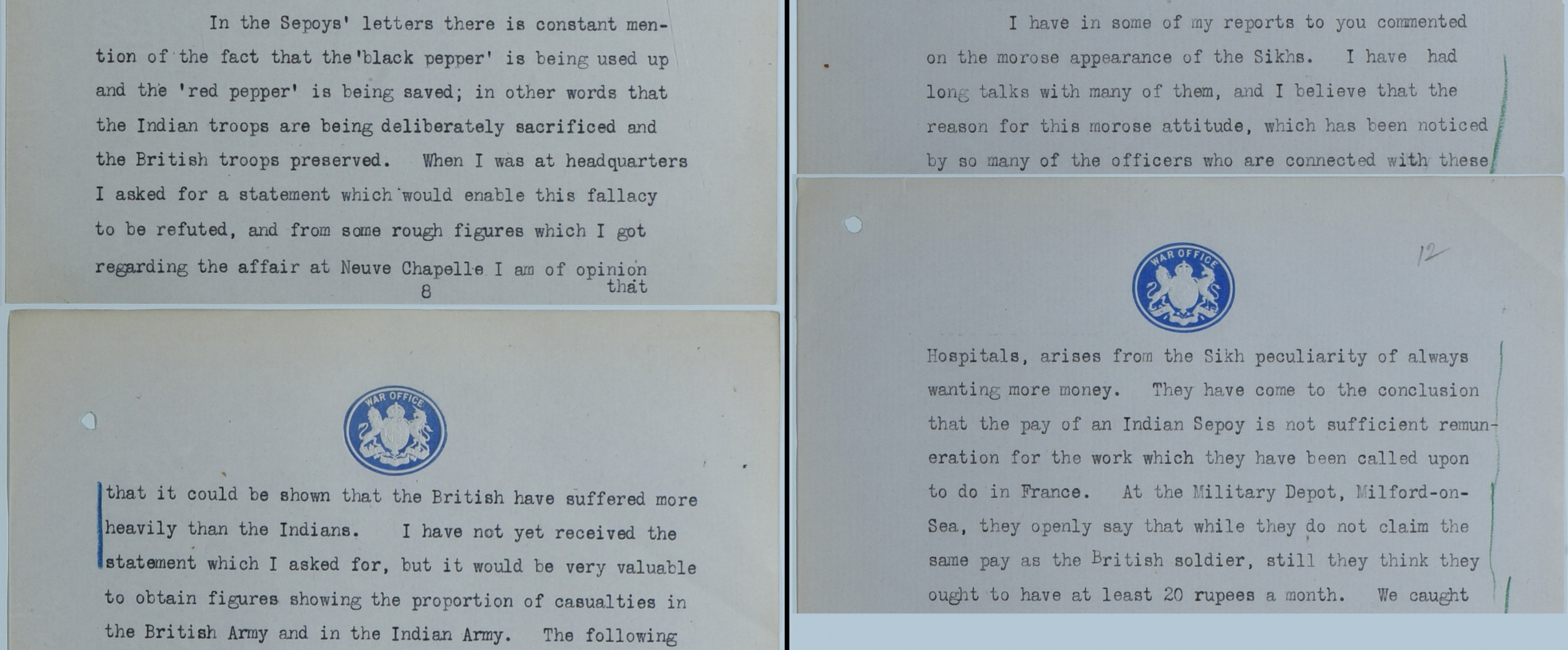 Correspondence from Sir Walter Lawrence 1915