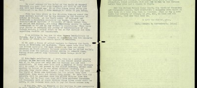 Image of Letter to Churchill