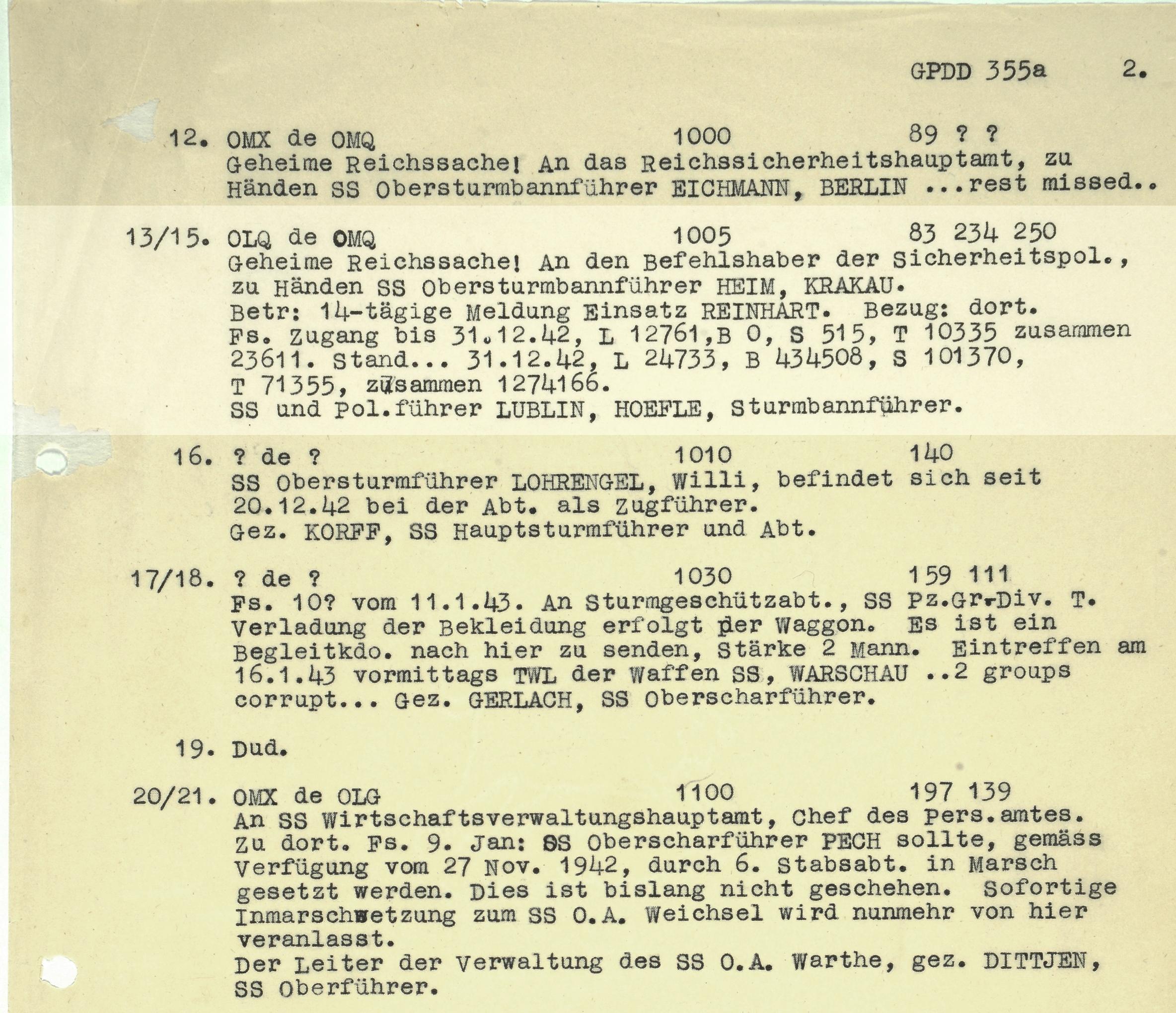 HW 16 23 Hoefle telegram
