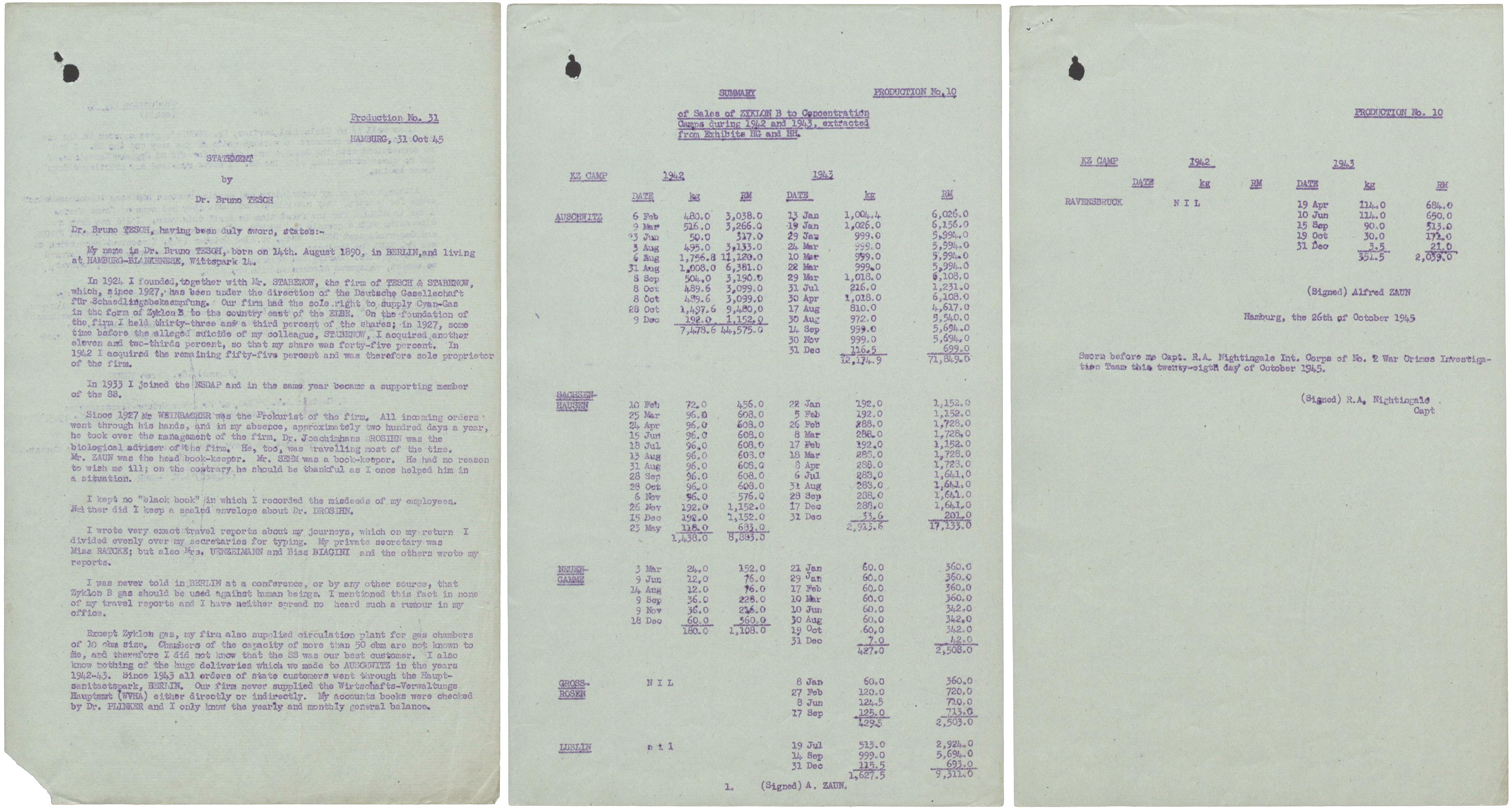 WO 309 625 Trial of Bruno Tesch