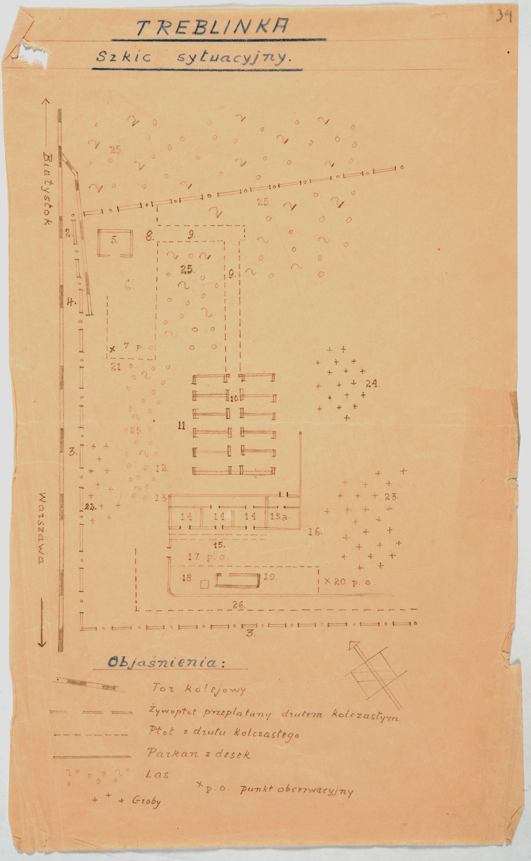 Plan of the Treblinka camp