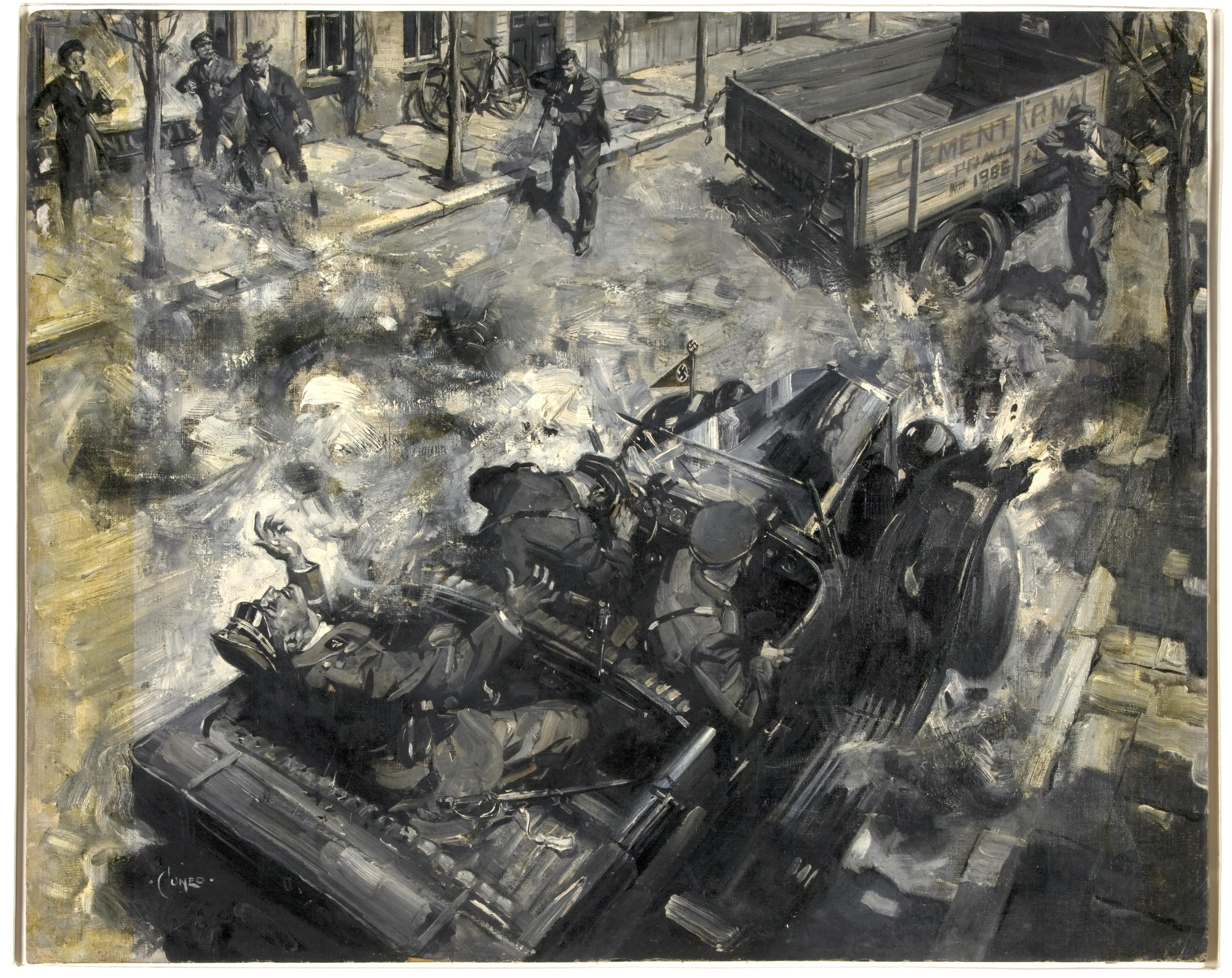 Portrait of the assassination of Heydrich