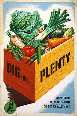 INF 3/98 - Food Production, Dig for Plenty, artist Le Bon
