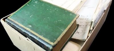 Ann Dod's King James I Bible in box
