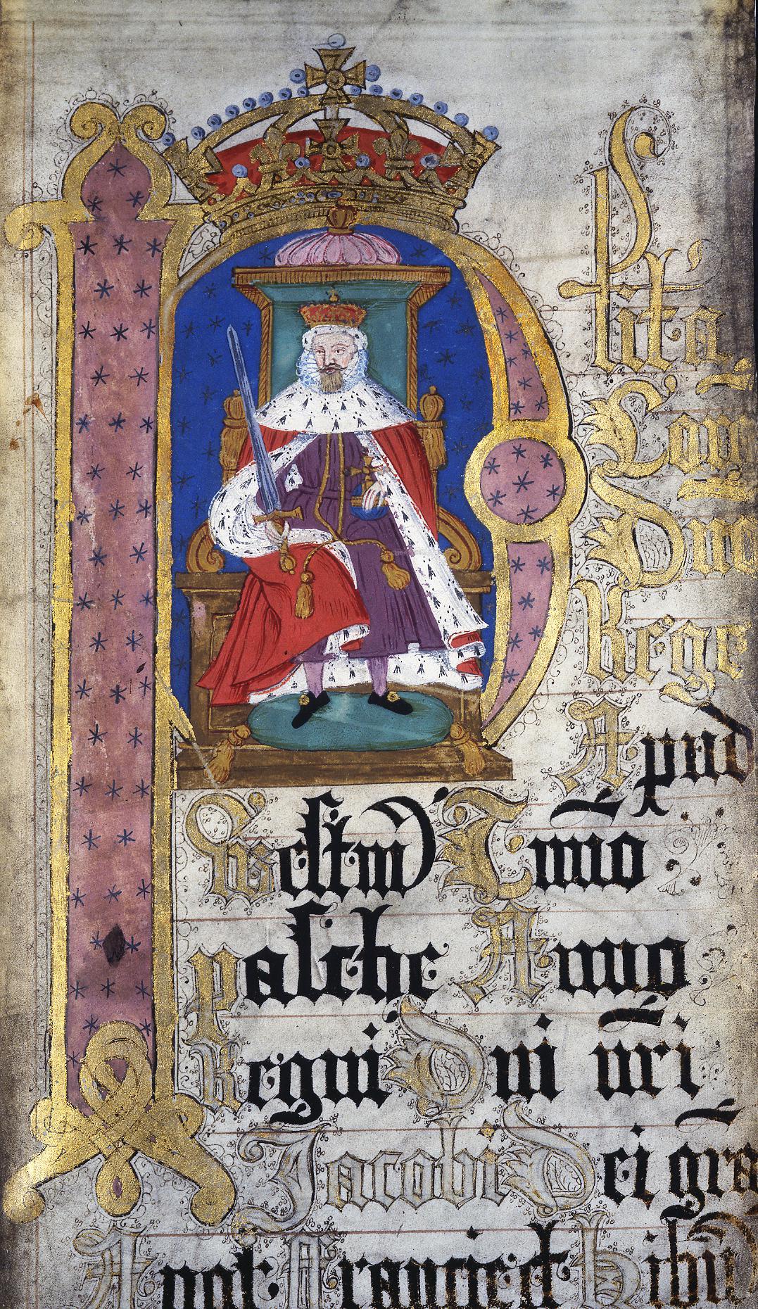 Rege Rolls detail of James I 1623 KB27/1522/2