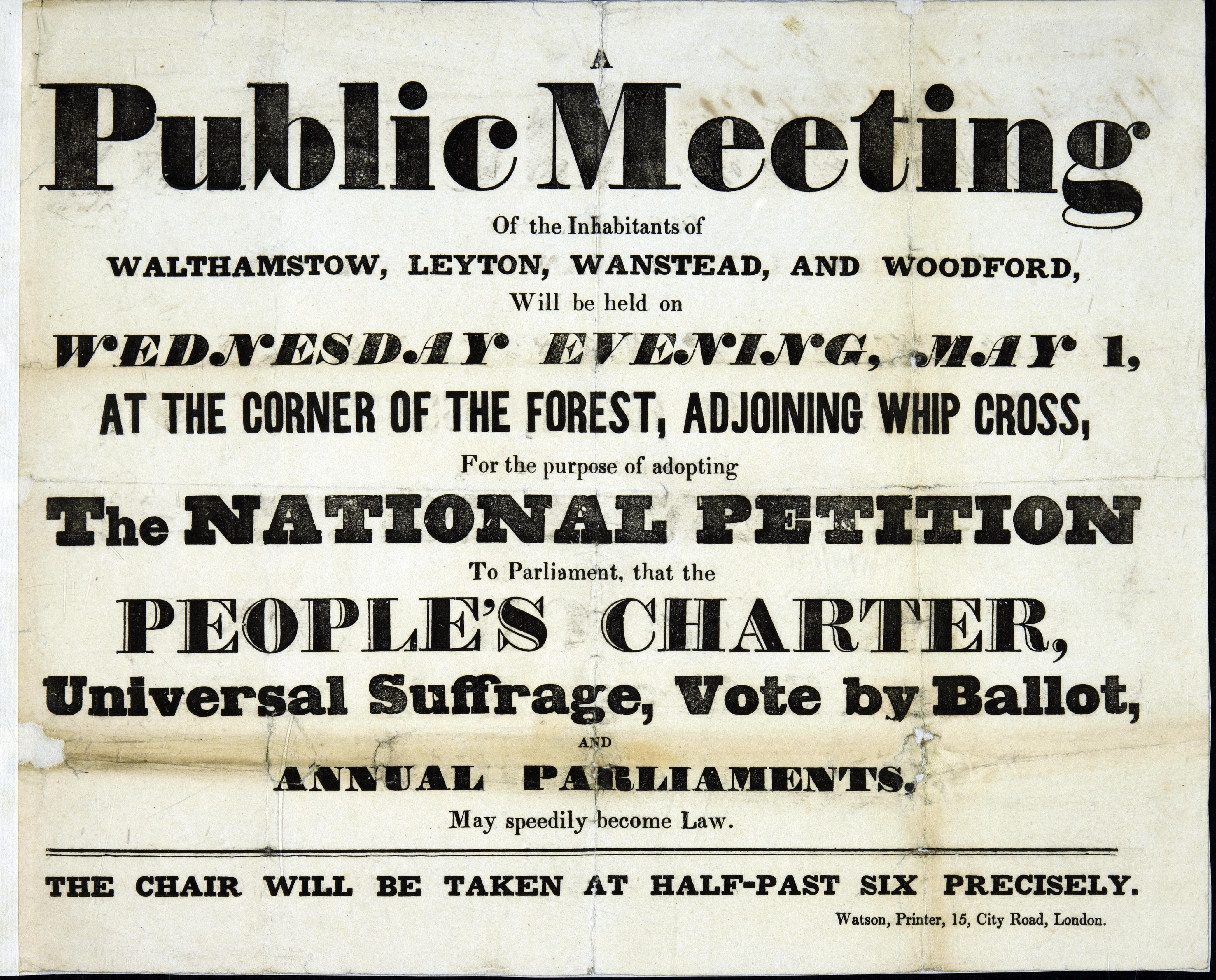 Public meeting near Whip (Whipp's) Cross, to adopt universal suffrage 1839-1841 EXT3/36