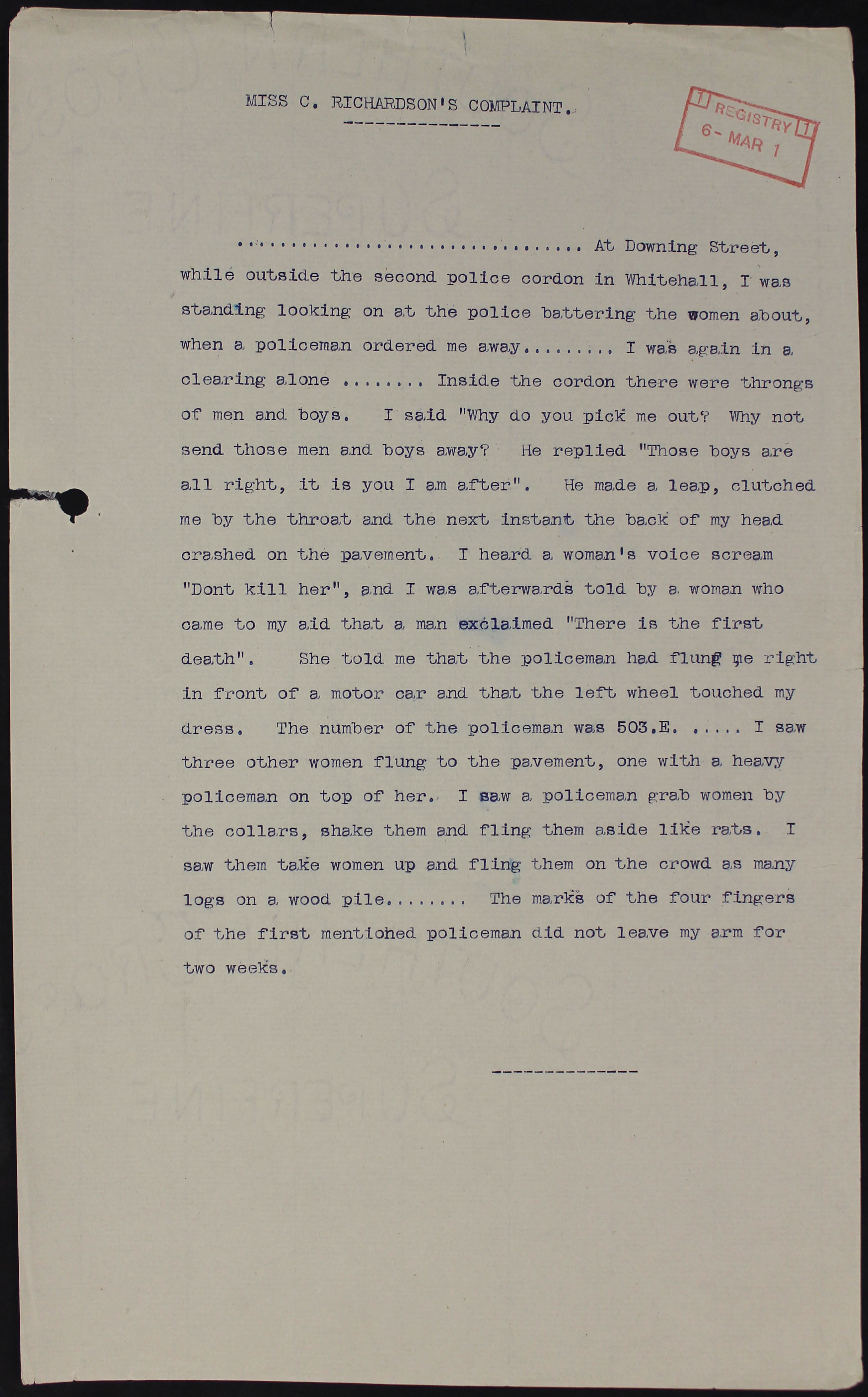 MEPO3/203 Statement of C Richardson