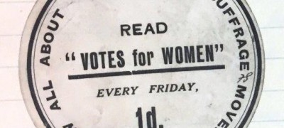 Image of Suffrage campaign sticker