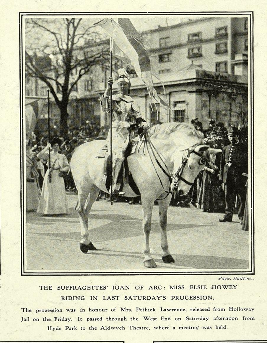 'Joan of Arc' in procession April 1909 ZPER34/134 (6)
