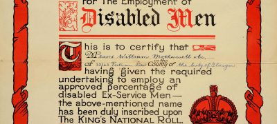 Image of Employment of disabled servicemen