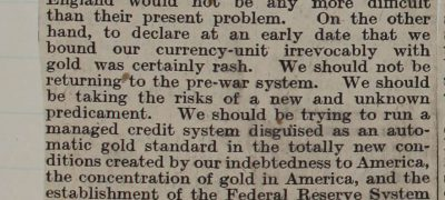 Image of Keynes on the Gold Standard