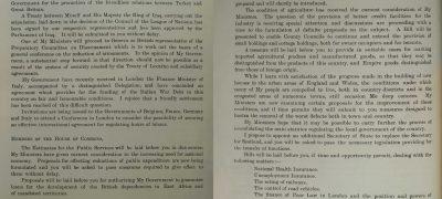 Image of King's speech 1926