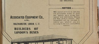Image of London bus advertisement