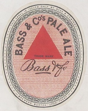 The Bass & Co. trade mark, registered in 1876. This representation is held at The National Archives in a series known as BT 82. The full catalogue reference for this trade mark is BT 82/1.