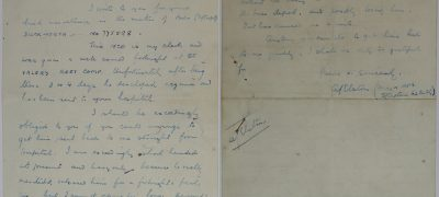Image of An officer's letter