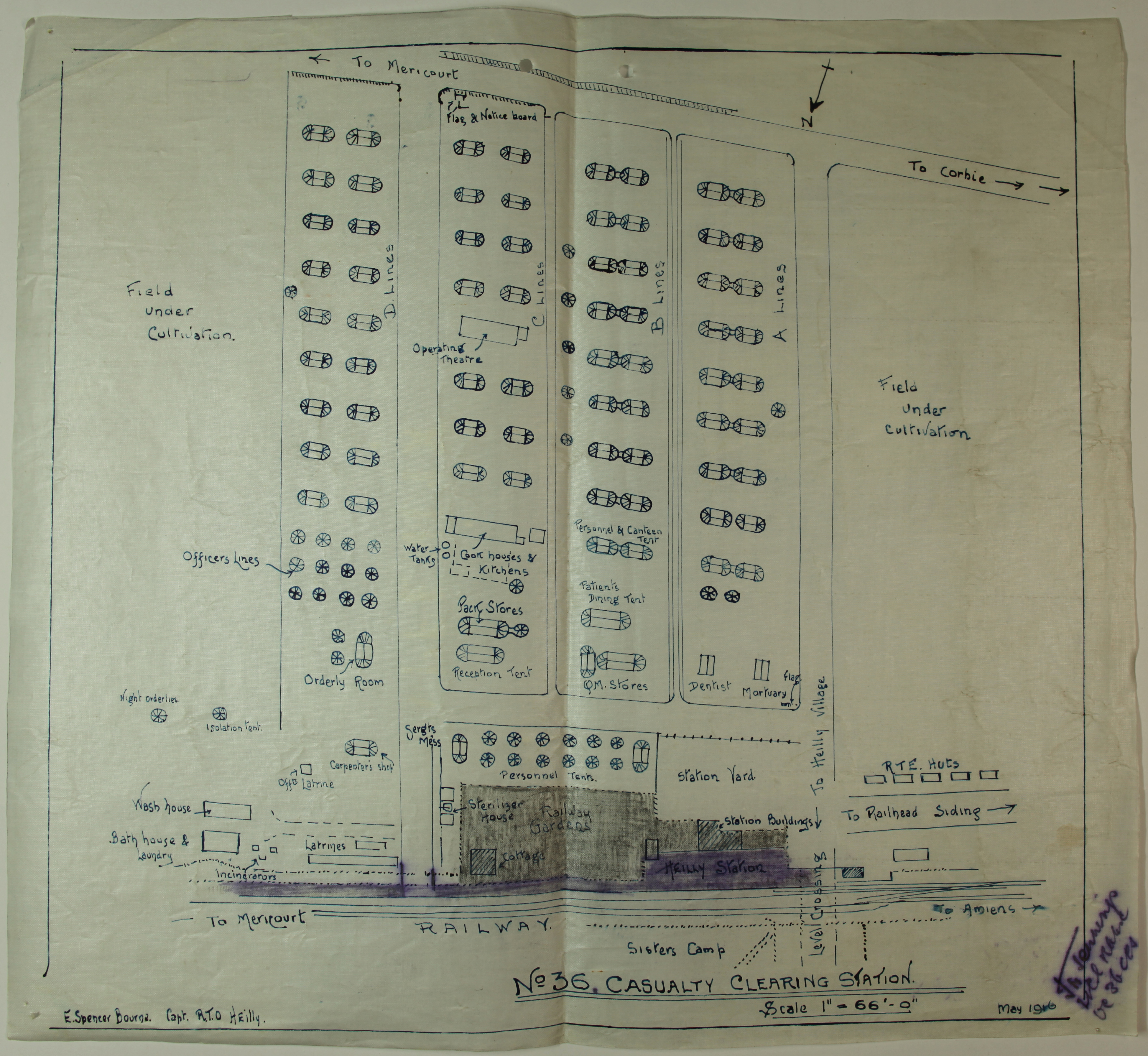 WO95/344 Casualty Clearing Station diagram