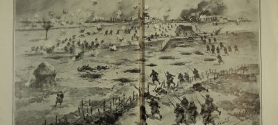 Image of Drawing of a trench siege