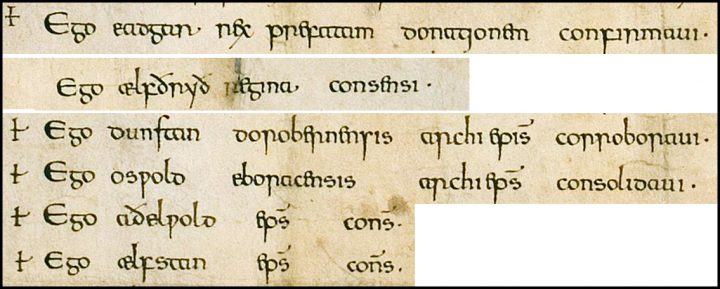 PRO30/26/11 Charter of King Edgar - Extract seven