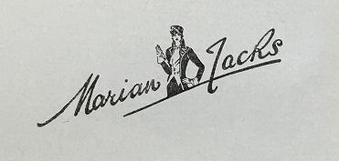 Marian Jacks trade mark, registered in 1938 (catalogue reference BT 82/1384, design number 585504).