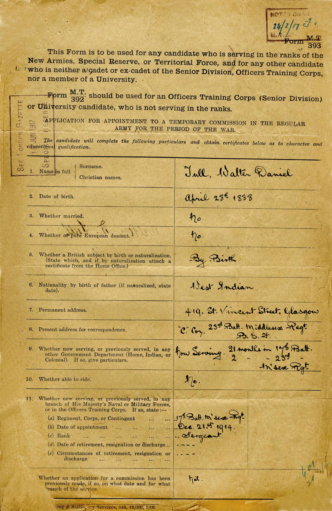 WO339/90293 December 1916 Tull