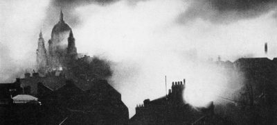 Image of London during the Blitz