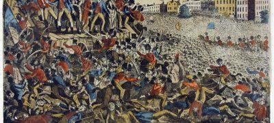 Image of Peterloo massacre 1819