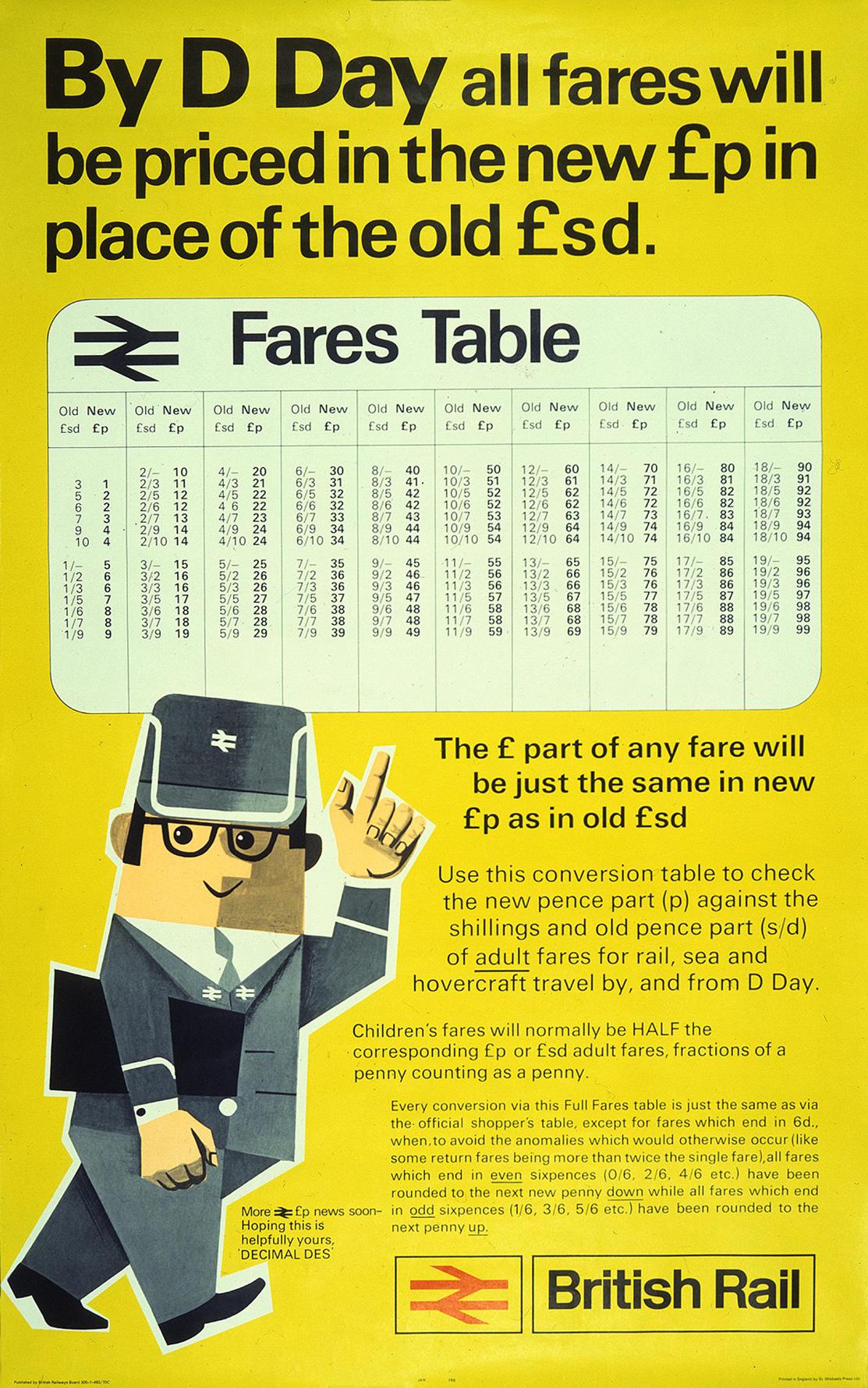 RAIL 1005 409 1971 decimalisation - BR, LT, and decimalisation 1971