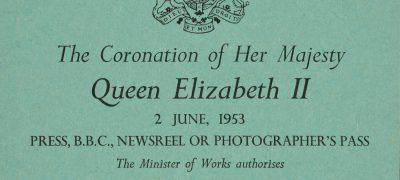 Image of Coronation press card