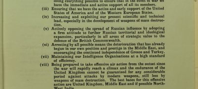 Image of British policy on USSR 1947
