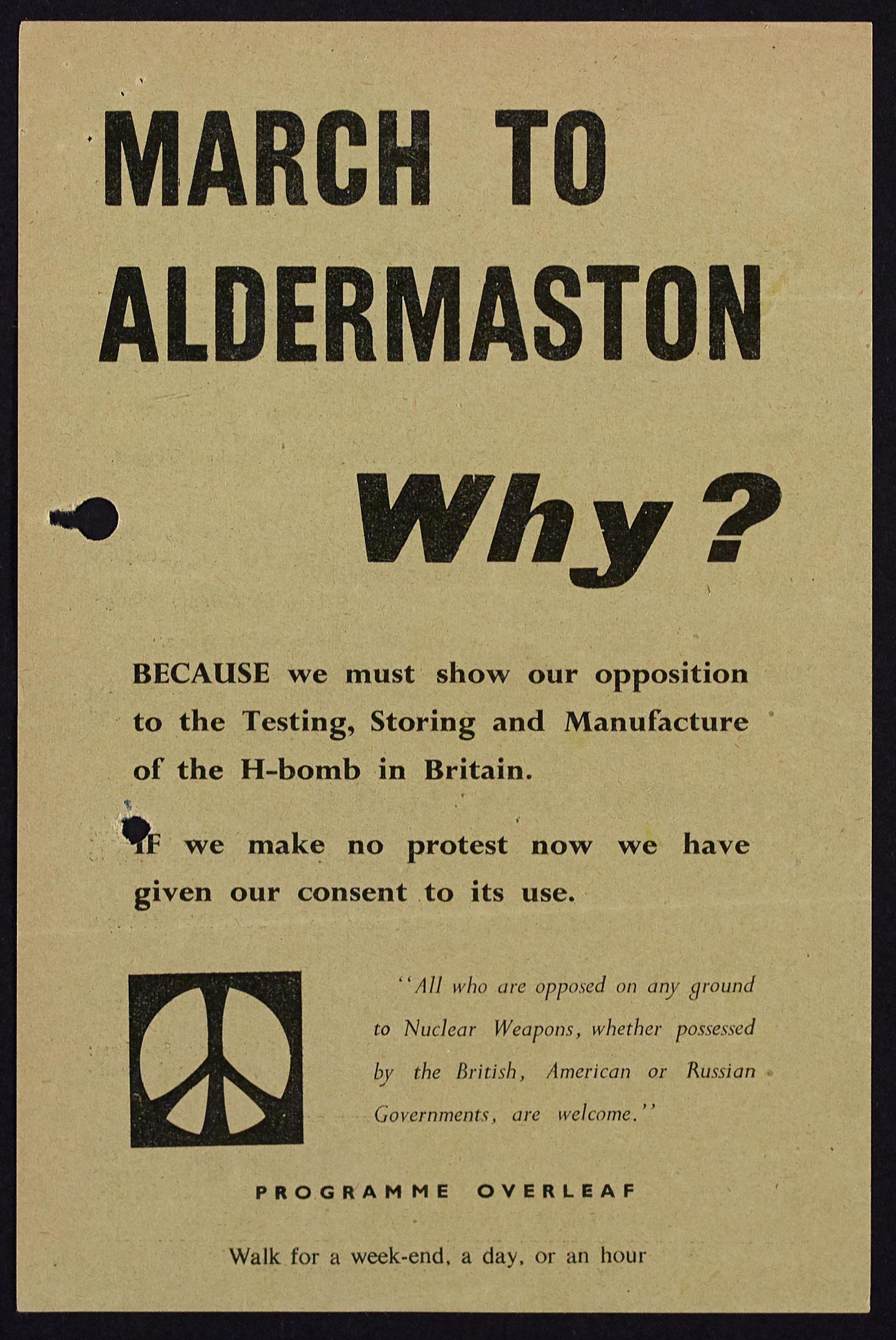 HO325/149 Aldermaston march