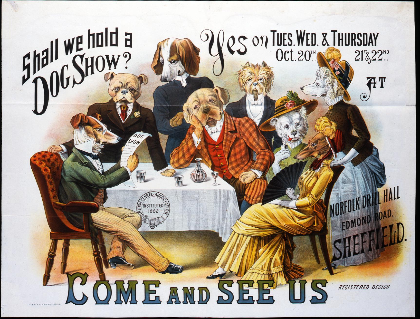 COPY 1/70 /85 1885 Yorkshire dogshow