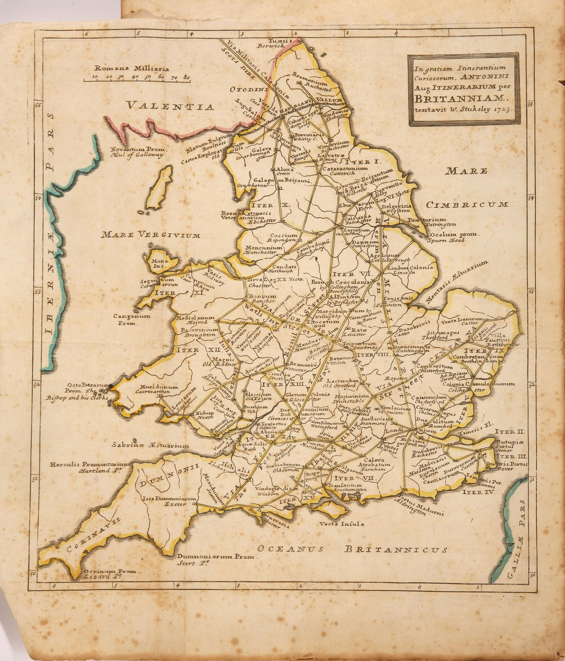 FO925/4174 Map of Britain 1733
