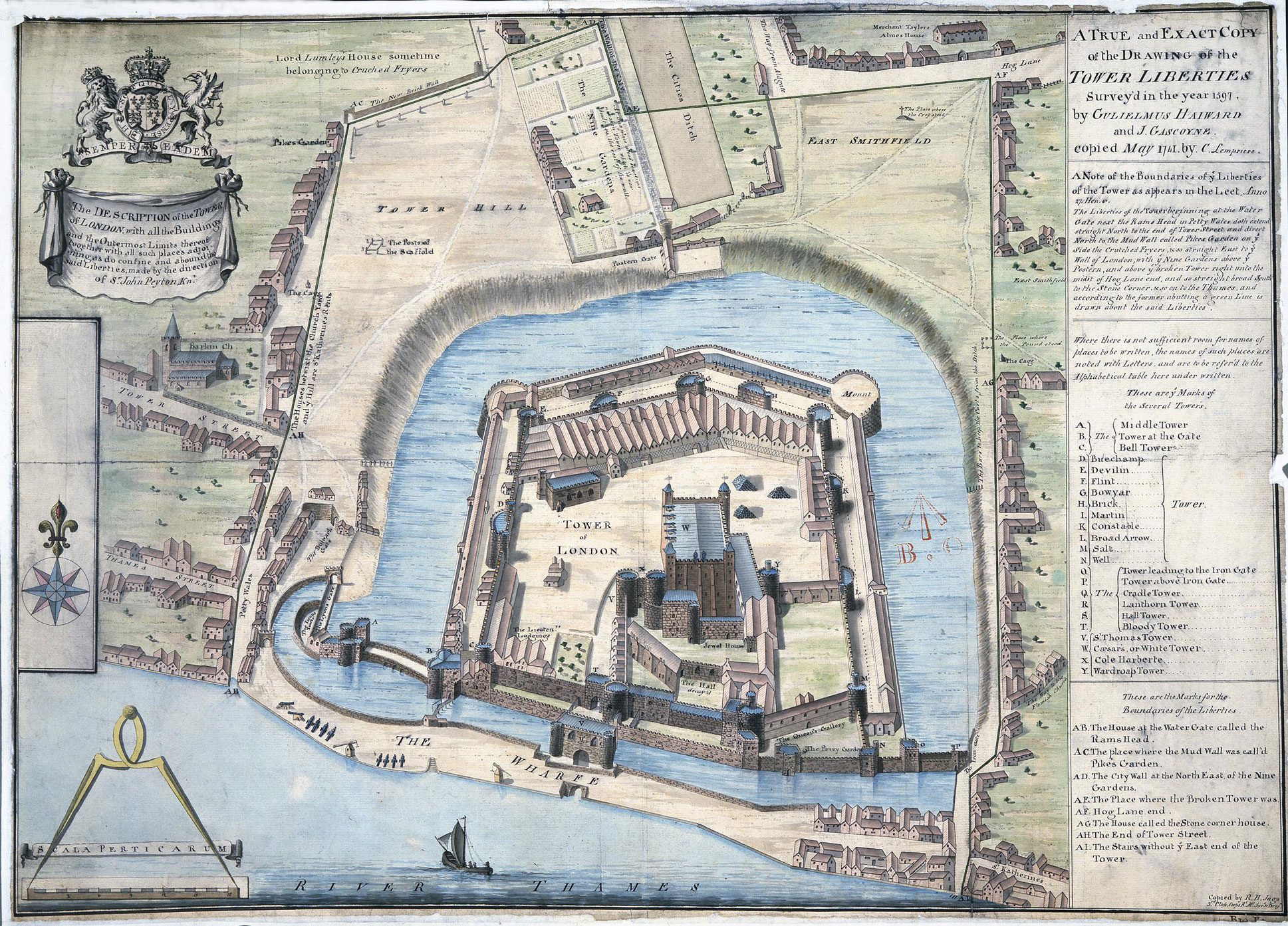 MPH1/213 1597-1741 Tower of London