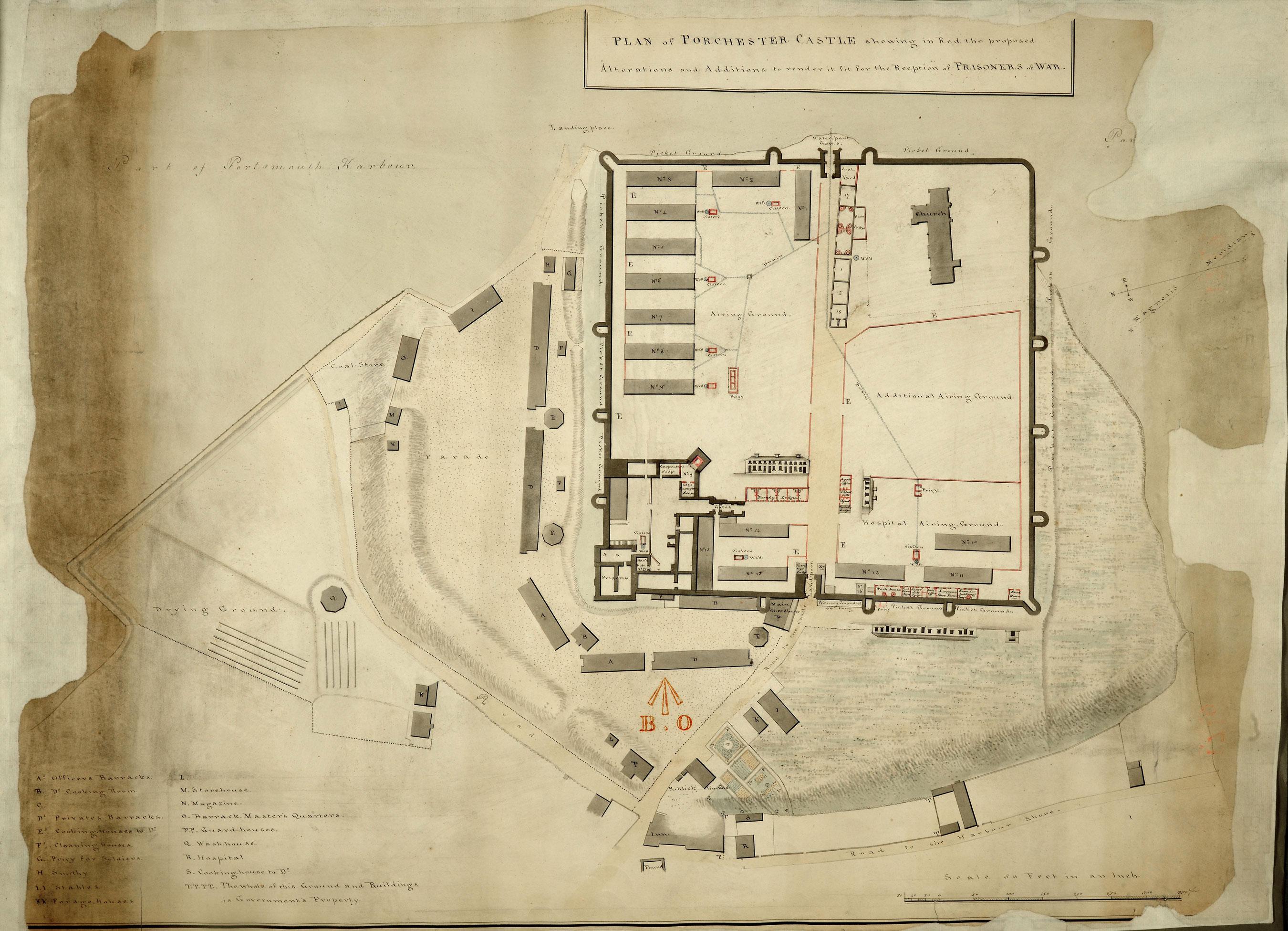 MPH1/516 Portchester castle 1800