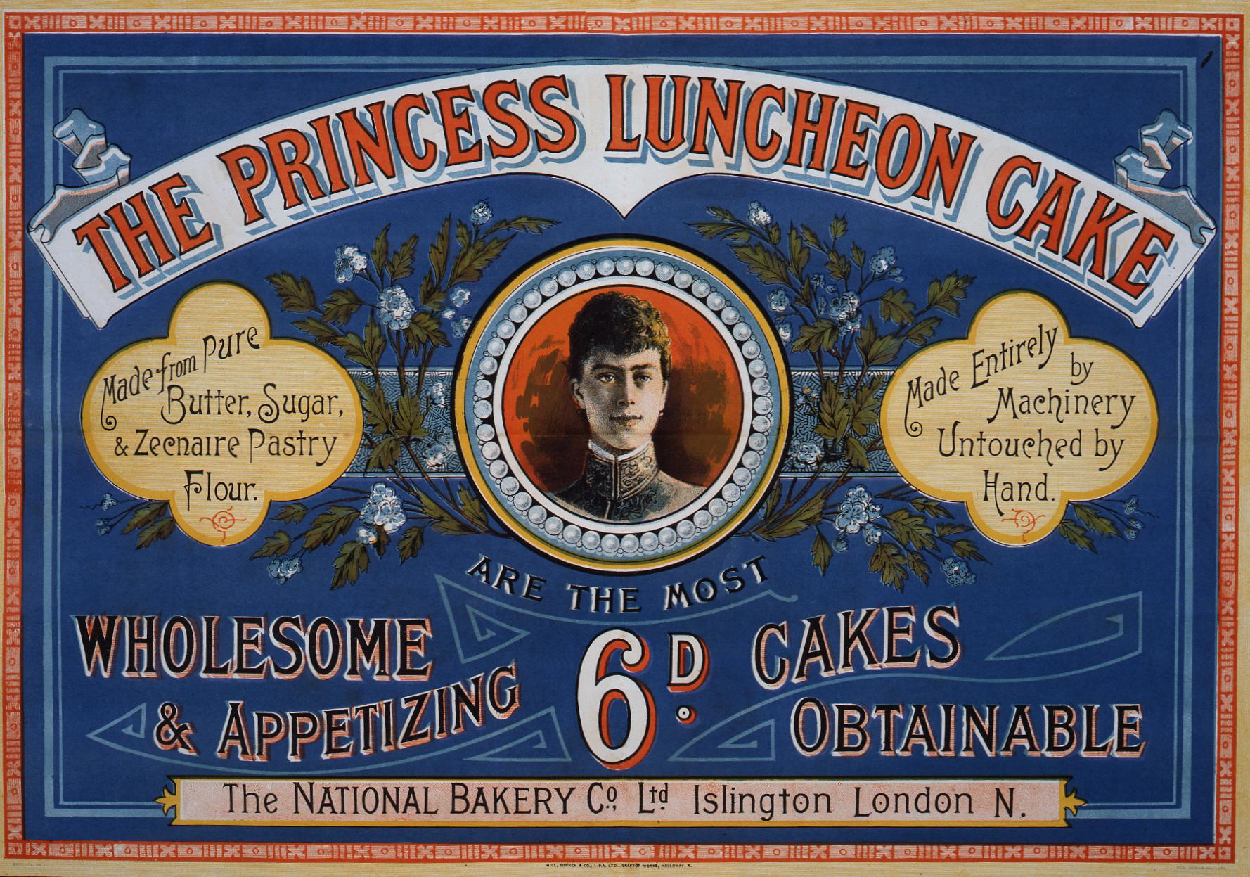 COPY 1/108 f175 1893 Princess Luncheon Cake