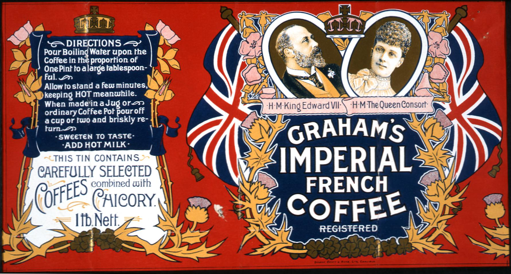 COPY 1/185 f26 1901 Graham's Imperial French Coffee 1901